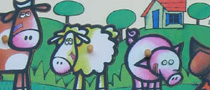 Encajable decreciente de animales de granja