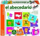 El abecedario. Cada pieza tiene una letra. �Qu� letras forman el abecedario?