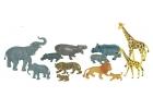 Animales salvajes con beb�s 12 figuras