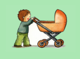 Puede empujar un carrito o andador