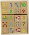 Domino de madera de n�meros