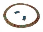 Domino circular de las vocales (madera)