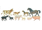 Animales granja con bebés 10 figuras