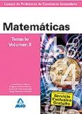 Matemáticas. Temario. Volumen II. Cuerpo de Profesores de Enseñanza Secundaria.