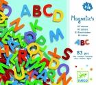 Letras magn�ticas may�sculas madera (83 piezas)