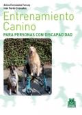 Entrenamiento canino para personas con discapacidad (bicolor).