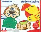 Estuche de plantillas de perro, pato y oso para coser (Activity lacing)