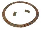 Domino circular de n�meros de madera