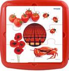 Plastic puzzle color rojo