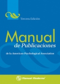 Manual de Publicaciones de la American Psychological Association. Tercera edicion.
