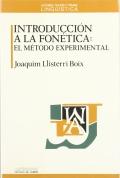 Introducci�n a la fon�tica: el m�todo experimental.