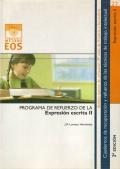 Expresion escrita II. Programa de refuerzo de la Expresion escrita II. Cuadernos de recuperación y refuerzo de las técnicas de trabajo intelectual.