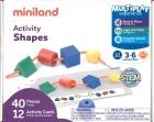 Estuche de formas geométricas ensartables. Activity shapes. (40 piezas)