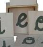 Vocales de lija en estuche de madera (xango)
