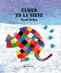 Elmer en la nieve.