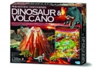 Dinosaurio y volc�n (Prehistoric discoveries)