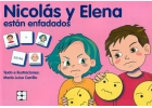 Nicol�s y Elena est�n enfadados. Colecci�n Pictogramas 25.