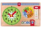 Reloj calendario de madera peque�o