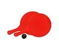 Juego de 2 palas redondas de color y pelota