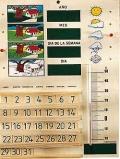 Calendario escolar de madera con term�metro