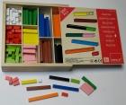 Caja de regletas de madera de distinto tama�o. (300 piezas)