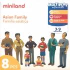 Figura de familia asiatica (8 figuras)