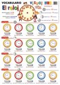 L�minas de vocabulario visual - El reloj (Formato flexible - L�mina)
