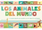 Los animales del mundo. 18 paisajes gigantes para completar con 400 adhesivos reutilizables.