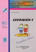 ESCRIBI�N-1. Mediterr�neo. Actividades de repaso, refuerzo y recuperaci�n de vocabulario y redacci�n.