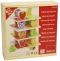 Torre de frutas en caja de madera (60 piezas)