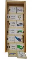 Domino de vehiculos (madera xango)