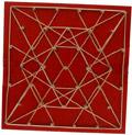 Geoplano madera distribuci�n triangular