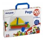 Malet�n cart�n Pegs 300 piezas 15mm
