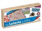Loter�a Lotto Tombola en caja de madera