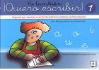 Yo tambin Quiero escribir! 1. Programa para aprender a escribir los grafemas y palabras con letra enlazada. Preescritura de grecas y grafemas de vocales.