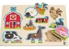 Puzzle de animales de la granja (9 piezas)