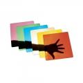 Espejos cuadrados de colores (6 unidades)