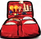 Conjunto de instrumentos de percusión. Bolsa grande
