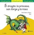 El dragón, la princesa, San Jorge y la rosa.