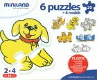 Maletín 6 puzzles animales