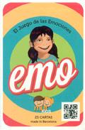 Juego de cartas con dibujos para trabajar las emociones. EMO