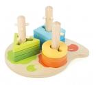 Juego de motricidad formas y colores de madera