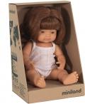 Baby caucásica pelirroja niña con ropa (38cm)