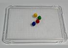 Placa transparente para pinchos / mosaicos ( 1 unidad )