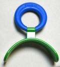 Pantalla oral plana rígida (estándar - aro azul)