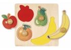 Puzzle de madera frutas