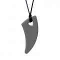 Colgante masticable diente de tiburón extraduro (gris oscuro)