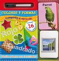Completa y aprende. Colores y formas. Escribe y borra con el rotulador