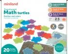 Tortugas translúcidas, posición y colores (Translucent Math Turtles)