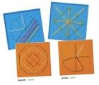 Geoplanos colores con actividades (6 piezas de 15 cm.)